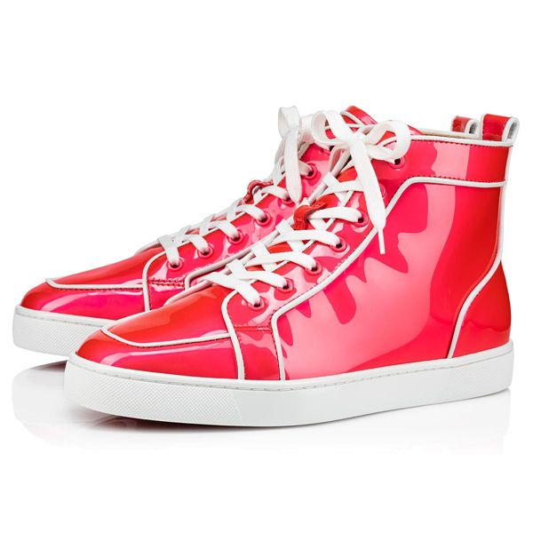 Christian Louboutin High Tops Rantus Orlato Flat Calf Pink Men's Shoes